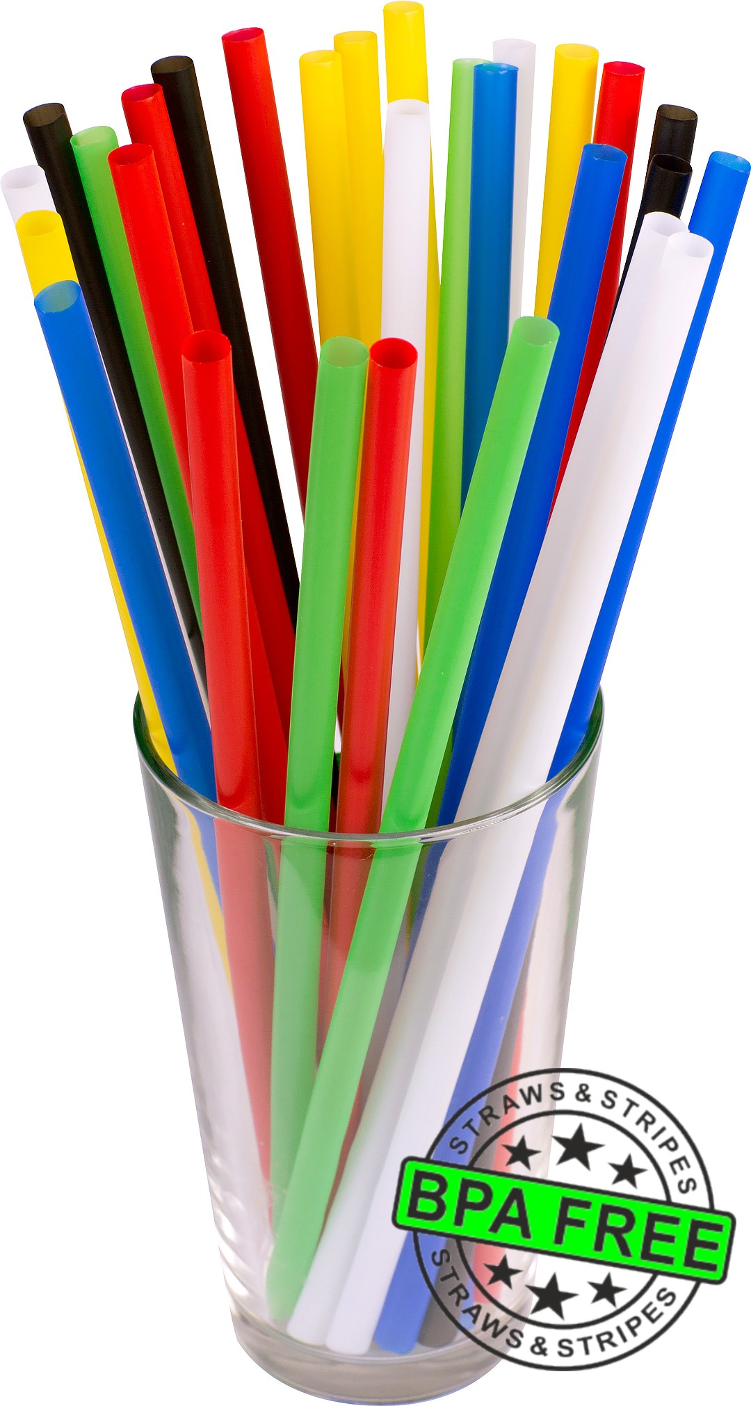 GIANT drinking straws 10.00 x 0.31 inch - color: mixed color