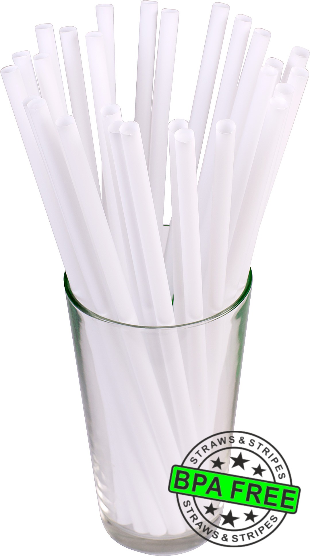 GIANT drinking straws 10.00 x 0.31 inch - color: white