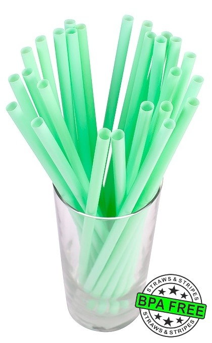 SMOOTHIE drinking straws 10.00 x 0.28 inch - color: mint