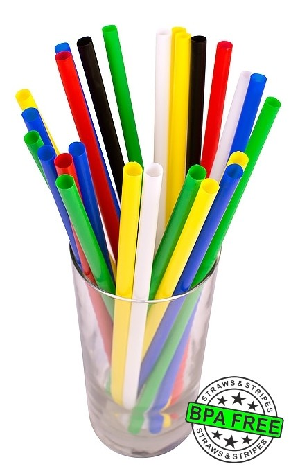 SMOOTHIE drinking straws 10.00 x 0.28 inch - color: mixed color