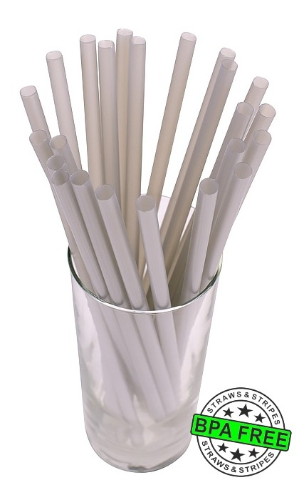 SMOOTHIE drinking straws 10.00 x 0.28 inch - color: silver