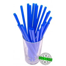 SMOOTHIE drinking straws 10.00 x 0.28 inch - color: blue