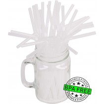Flexible drinking straws 8.25 x 0.23 inch - color: clear