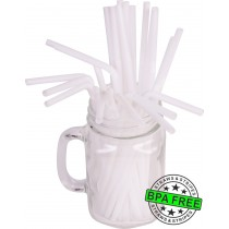 Flexible drinking straws 8.25 x 0.23 inch - color: white
