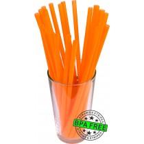 GIANT drinking straws 10.00 x 0.31 inch - color: orange