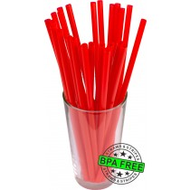 GIANT drinking straws 10.00 x 0.31 inch - color: red