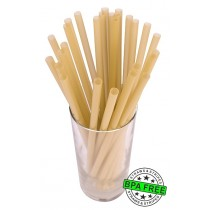 SMOOTHIE drinking straws 10.00 x 0.28 inch - color: gold