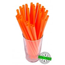 SMOOTHIE drinking straws 10.00 x 0.28 inch - color: orange