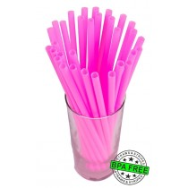 SMOOTHIE drinking straws 10.00 x 0.28 inch - color: pink