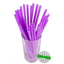 SMOOTHIE drinking straws 10.00 x 0.28 inch - color: purple