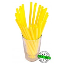 SMOOTHIE drinking straws 10.00 x 0.28 inch - color: yellow