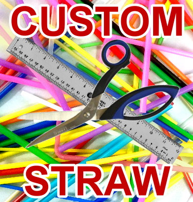 Create your own custom made drinking straw