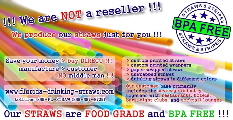 Drinking Straws - FOOD GRADE - BPA & PCB FREE